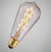 Лампа Эдисона Филаментный форма Шар Эра 7вт E27 2700К