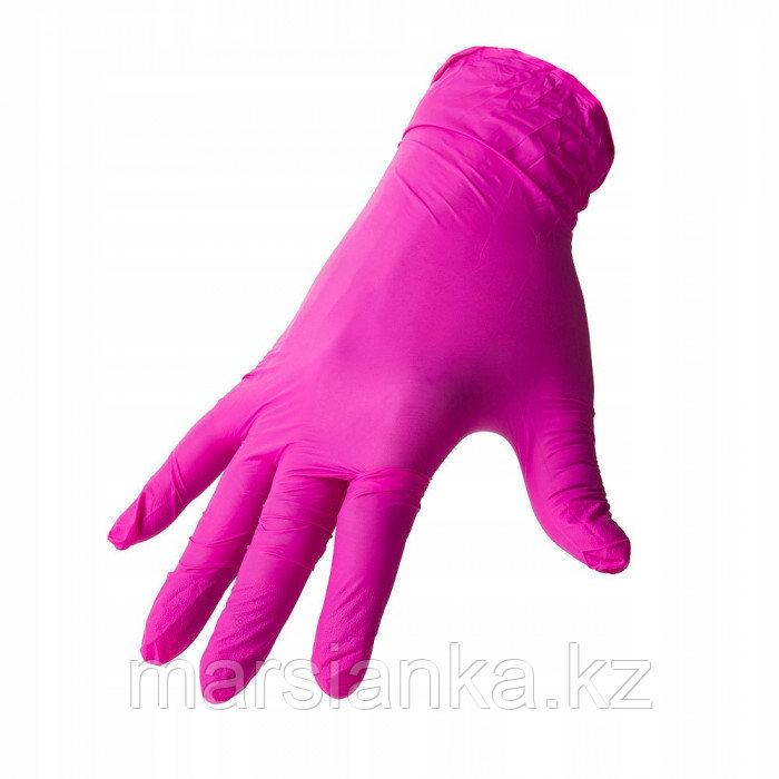Перчатки UNIX Medical, нитриловые (фуксия) размер S, 100шт.