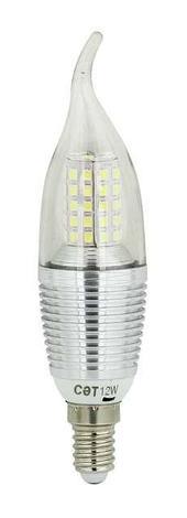Лампа Свеча Серебро 9вт 6000K E14 SAT, фото 2