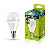 Светодиодная лампа Ergolux LED-G45-9W-E14-4K (холодный)
