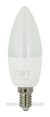 Лампа  Oval C37 ecolight 6w E27 6500K, фото 2