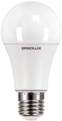 Эл. лампа светодиодная, Ergolux, LED-A60-17W-E27-4K, Мощность 17Вт, Тип колбы A60, Цвет. температура