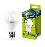 Светодиодная лампа Ergolux LED-A60-12W-E27-4K (холодный свет)
