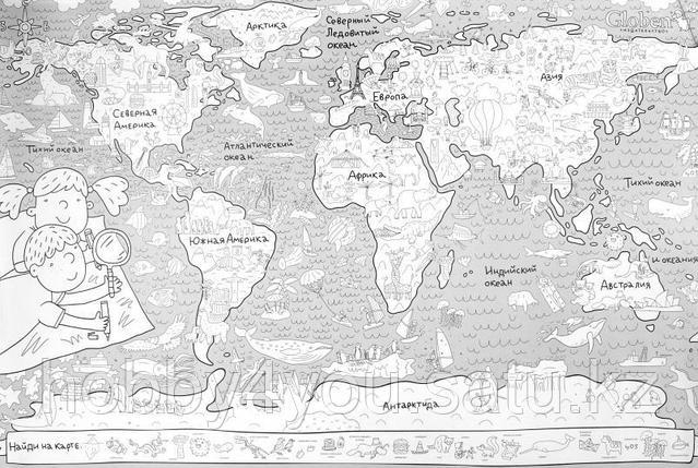 "Огромная раскраска ""Карта мира"", фото 2"