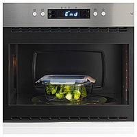 ИКЕА/365+ Контейнер для продуктов с крышкой, четырехугольной формы стекло, стекло пластик