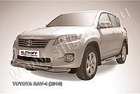 Защита переднего бампера d76+d57 двойная Toyota RAV4 2010-13