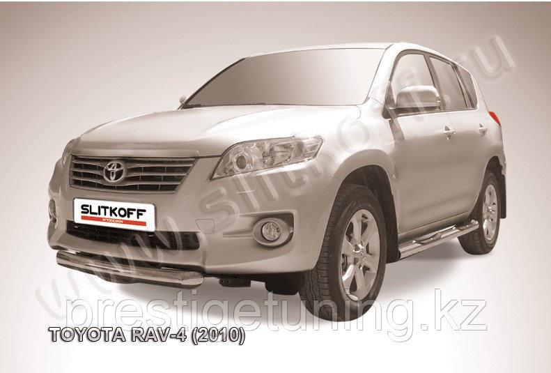 Защита переднего бампера d76 короткая Toyota RAV4 2010-13
