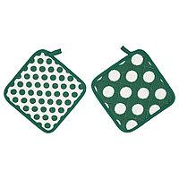 АЛЬВАЛИЗА Прихватка, зеленый, белый, 23x23 см, фото 1