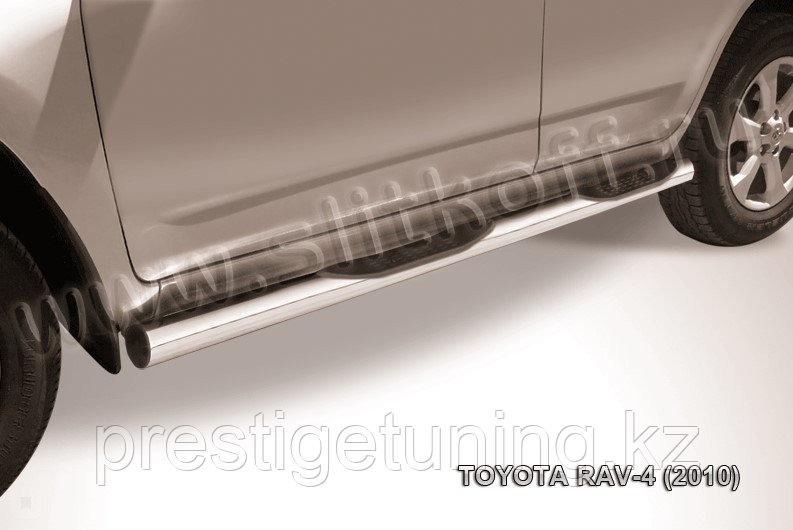 Защита порогов d76 с проступями Toyota RAV4 2010-13