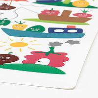 МЭТВРО Салфетка под приборы, орнамент «фрукты/овощи», разноцветный, 40x30 см, фото 1