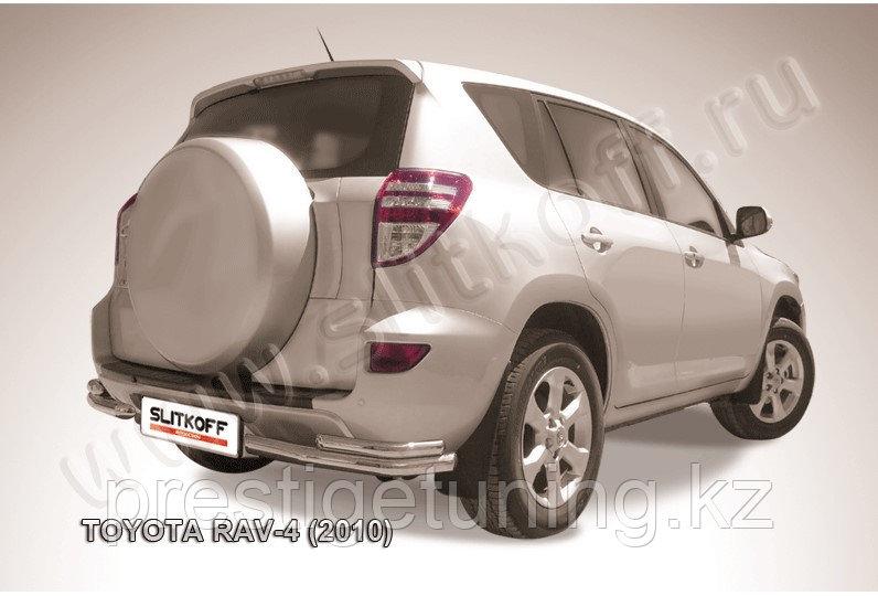 Уголки d57+d42 двойные на Toyota RAV4 2010-13