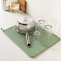 НЮХОЛИД Коврик для сушки посуды, зеленый, фото 1