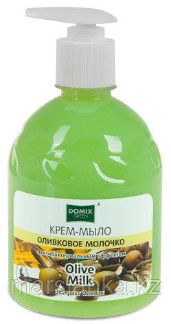 """Крем-мыло """"Оливковое молочко"""" с дозатором DOMIX, 500 мл"""