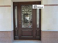 Железные двери с ковкой и стеклом на заказ