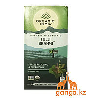 Чай Тулси и Брахми (Tulsi Brahmi ORGANIC INDIA), 25 пакетиков
