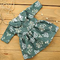 Одежда для куклы Baby Born (Беби Борн) и Baby Annabell (Беби Аннабель), платье для коллекционной куклы Зеленый