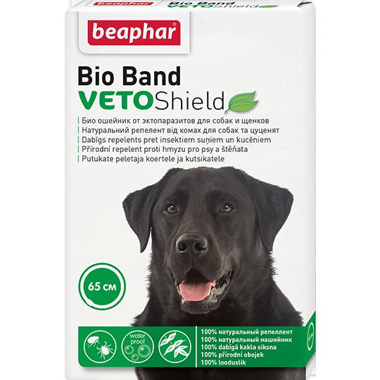 Биоошейник VETO Shield Bio Band от эктопаразитов для собак и щенков, Beaphar - 65 см