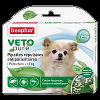 Биокапли VETO pure от блох, клещ и комаров для щенков мелких пород, Beaphar - 1 пип
