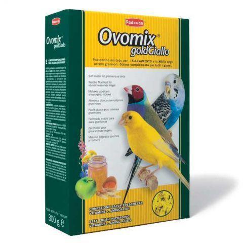 Корм для выкармливания птенцов и при линьке взрослых птиц, Padovan Ovomix Gold giallo - 300 г