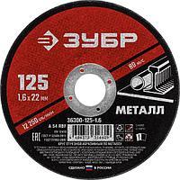 Диски отрезные по металлу 125 мм, ЗУБР