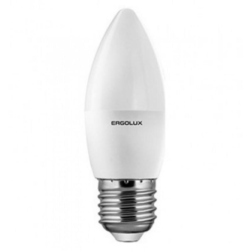 Светодиодная лампа Ergolux LED-C35-9W-E27-6K (дневной свет)