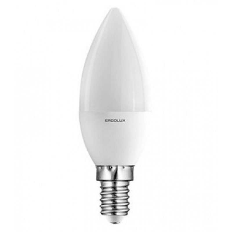 Светодиодная лампа Ergolux LED-C35-9W-E14-3K (тёплый свет)