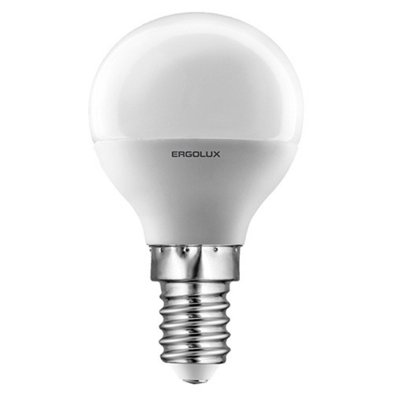 Светодиодная лампа Ergolux LED-G45-7W-E14-4K (холодный свет)