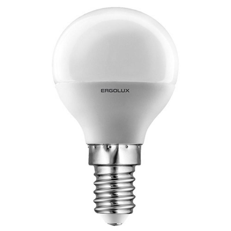 Светодиодная лампа Ergolux LED-G45-7W-E14-6K (дневной свет)