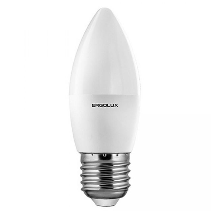 Светодиодная лампа Ergolux LED-C35-7W-E27-6K (дневной свет)