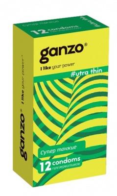 """Ультратонкие презервативы """"GANZO"""" - """"ULTRA THIN"""", 12 штук"""