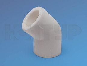 Угольник для полипролиленовых труб, полуотвод D32/45гр. PPR Контур