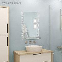 """Зеркало в ванную комнату 80×60 см """"Ассоona A626"""", 1 полка"""