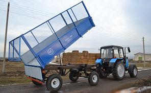 Прицеп самосвальный тракторный 2ПТС-4,5 с надставными сетчатыми бортами