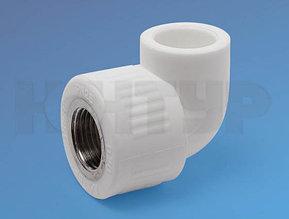 Угольник для полипролиленовых труб комбинированный  ВР D25-3/4 PPR Контур