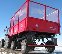 Прицеп самосвальный тракторный 2ПТС-6,5 с надставными сетчатыми бортами