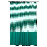 ВАДШЁН Штора для ванной, темно-зеленый, фото 1