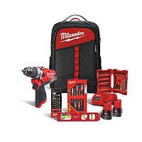 Набор инструментов Milwaukee M12 FPD-202BH