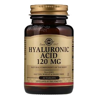 Solgar, Гиалуроновая кислота, 120 мг, 30 таблеток