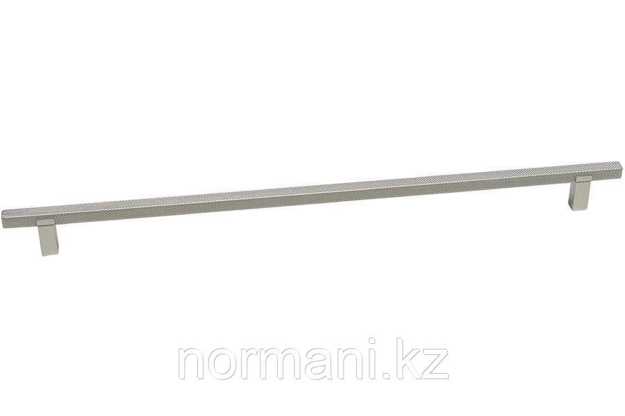 Мебельная ручка скоба, замак, размер посадки 320мм, отделка платина