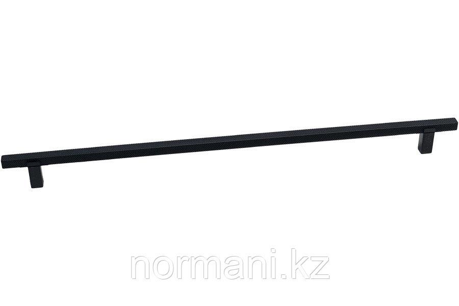 Мебельная ручка скоба, замак, размер посадки 320мм, отделка черный матовый