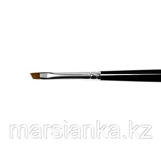 """Кисть синтетика наклонная коричневая Ju.bilej """"angular"""" №4, фото 2"""