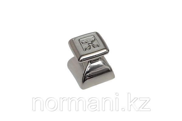 Ручка-кнопка, отделка никель глянец
