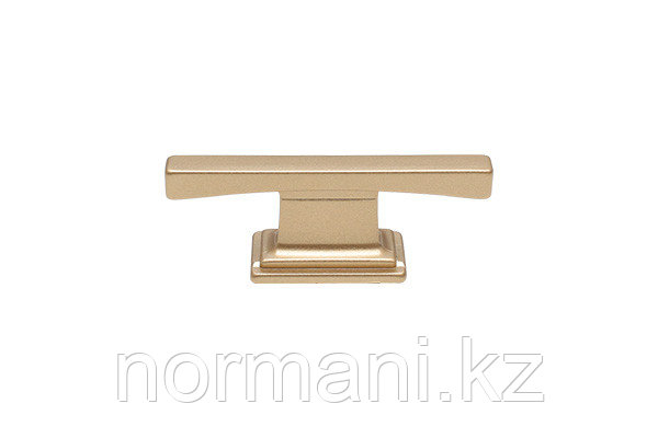 Мебельная ручка кнопка, размер посадки 16мм, цвет золото матовое