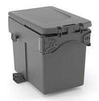 Контейнер для мусора одинарный 15 л 240*345*295, антрацит (820110101)