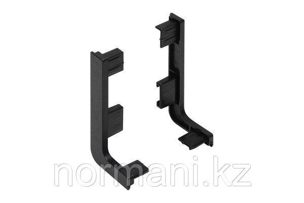 Gola Комплект открытых заглушек для профиля 8006, цвет черный