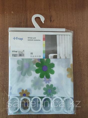 FRAP F8851 Шторка для ванны 180*200 полиэт. рисунок, фото 2