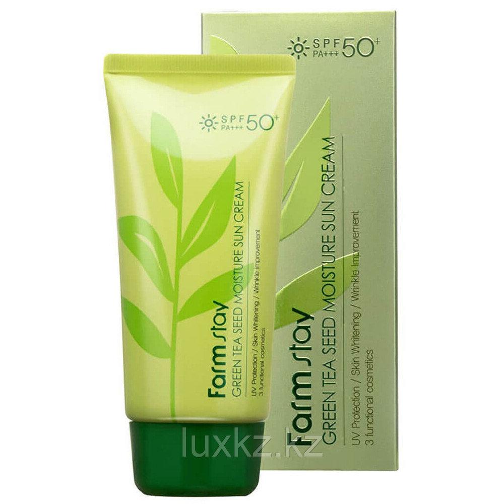 Увлажняющий солнцезащитный крем Green Tea Seed Moisture Sun Cream SPF50+ PA+++