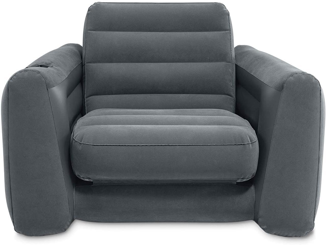 Кресло надувное Intex 66551NP (серый)