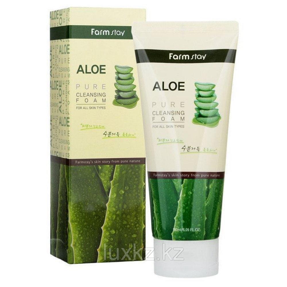 Пенка для умывания с алоэ от FarmStay Aloe Pure Cleansing Foam