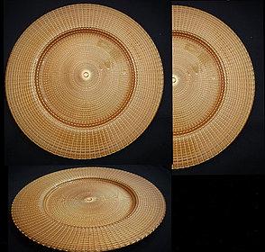Подтарельники (Сервировочная тарелка)  Gold sunrise, фото 2
